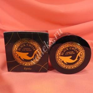 Гидрогелевые патчи с черной икрой Esfolio Black Caviar Hydrogel Eye Patch