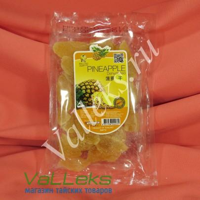 Натуральный тайский сушеный ананас, 200гр.