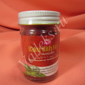 Тайский красный бальзам для тела Banna 50мл