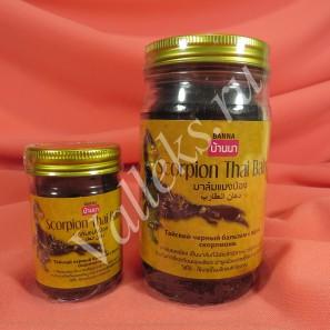 Тайский черный бальзам с ядом скорпиона Banna