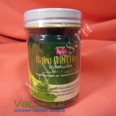 Тайский травяной зеленый бальзам Banna 50мл