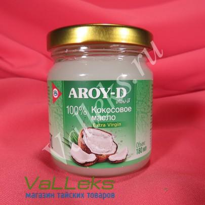 Кокосовое масло нерафинированное AROY-D 180мл