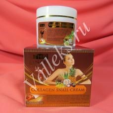 Антивозрастной улиточный крем для лица, с коллагеном Thai Kinaree 100мл