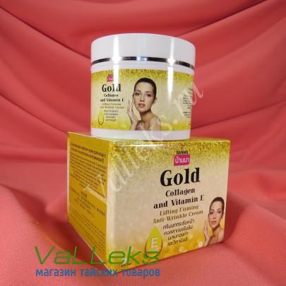 Подтягивающий омолаживающий крем с золотом, коллагеном и витамином Е Banna