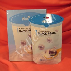Тканевая маска для лица с натуральным йогуртом и пудрой черного жемчуга Moods