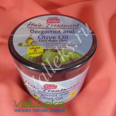 Питательная маска для волос с бергамотом и оливковым маслом Banna 300мл