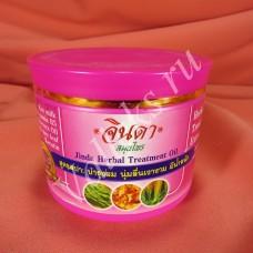Восстанавливающая маска для волос с кератином и рисовым молочком Jinda Herbal Treatment Oil 400мл.