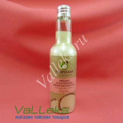 Органическое кокосовое масло холодного отжима для ухода за волосами и кожей Ruby Rose Tropicana, 100мл