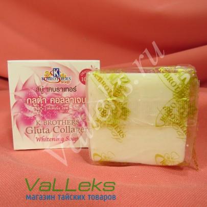 Отбеливающее мыло с глутатионом и коллагеном KBrother 60гр.