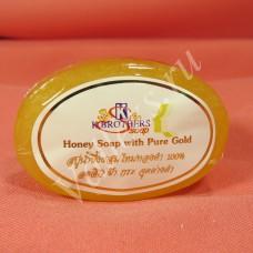 Медовое мыло с золотой пудрой K.Brothers 30гр.
