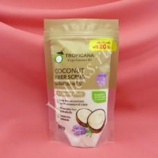 Кокосовый натуральный сухой скраб для лица и тела с маслом лаванды Tropicana