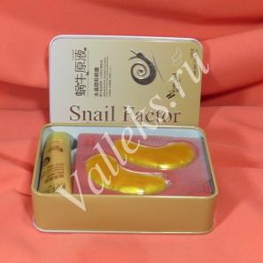 Улиточный сэт для ухода за кожей лица, патчи для глаз и маска для лица Snail Factor