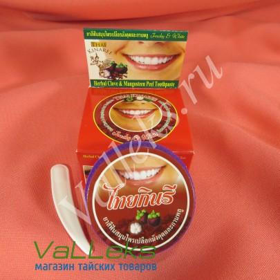 Органическая зубная паста мангостин с гвоздикой Thai Kinaree, 25гр.